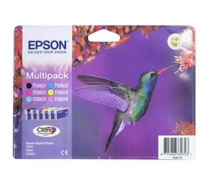 Picture of Compatible EPSON Hummingbird T0807 6-colour XL Ink - Multipack